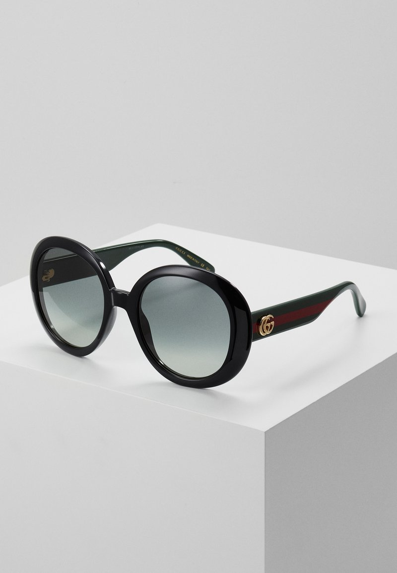 Gucci - Solbriller - black/green/grey