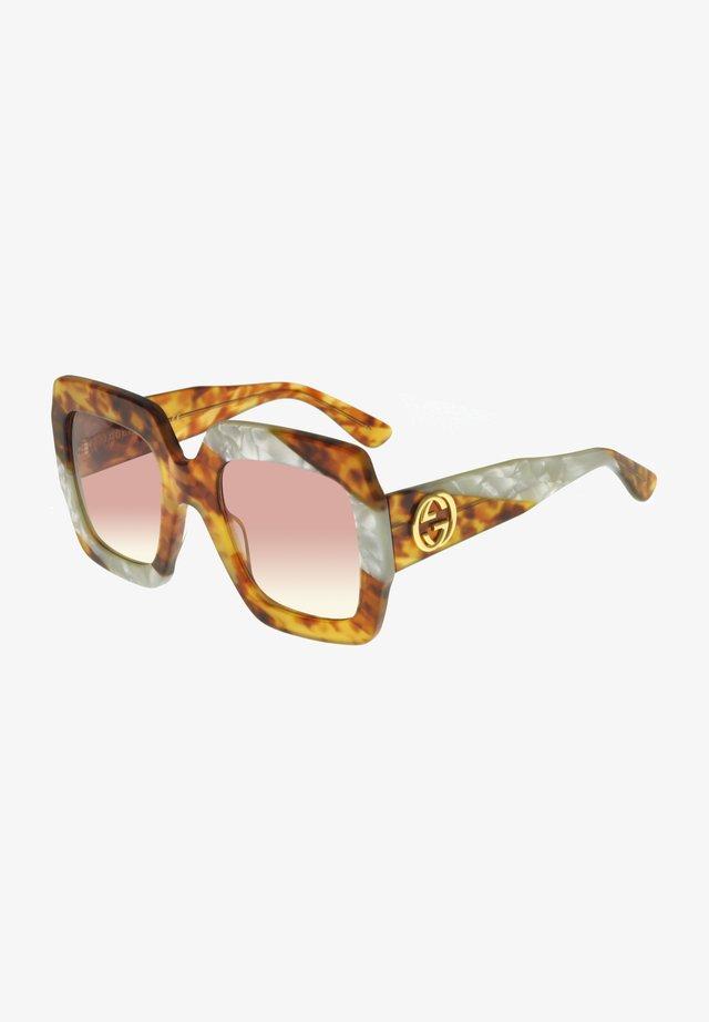 Sunglasses - blonde havana white pearl/pink shaded