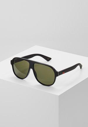 Sunglasses - black/black/green