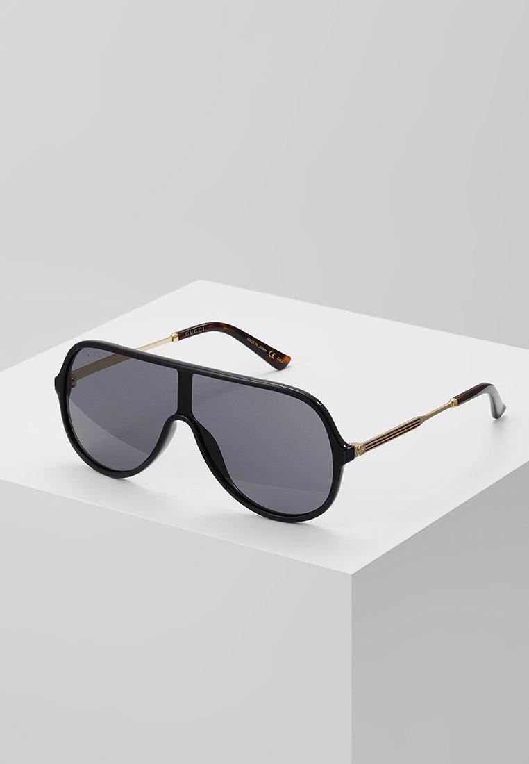 Gucci - Lunettes de soleil - black/gold-coloured/grey