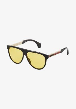 Zonnebril - black/white/yellow