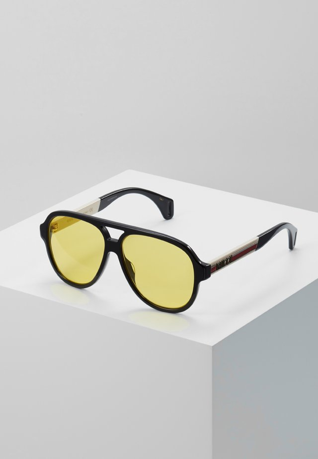 Sunglasses - black/white/gold-coloured