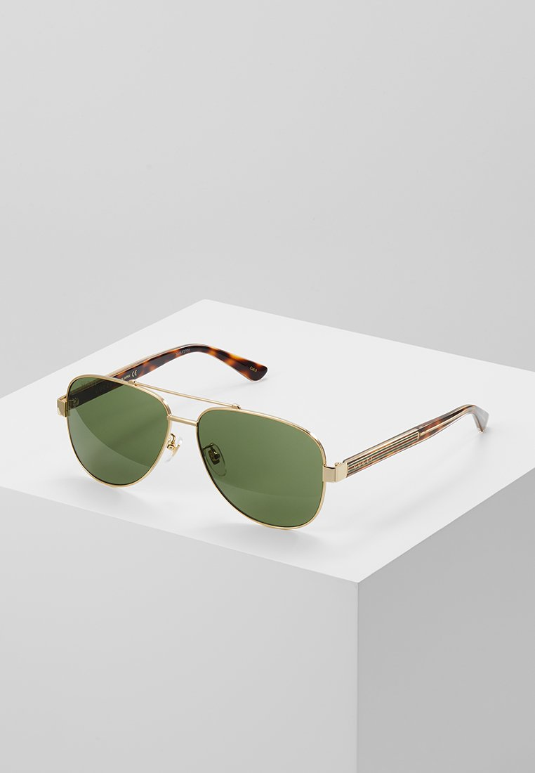 Gucci - Occhiali da sole - gold-coloured/crystal/green