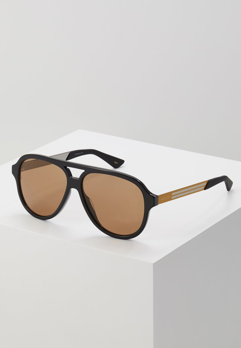 Gucci - Sunglasses - black/yellow/brown