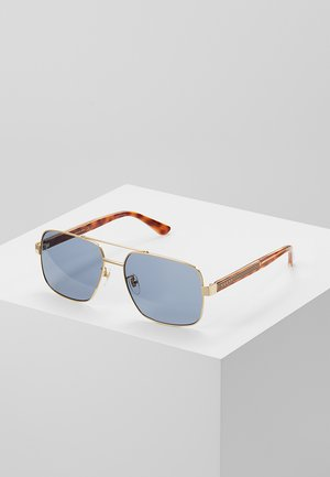 Sunglasses - gold-coloured/crystal/grey