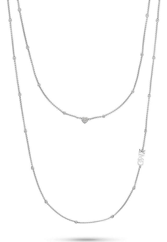 GMK COLLECTION DAMEN-KETTE VALENTINE COLLECTION EDELSTAHL 8 ZIRK - Necklace - silber