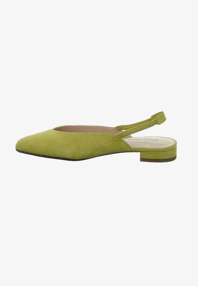 Slingback ballet pumps - gelb
