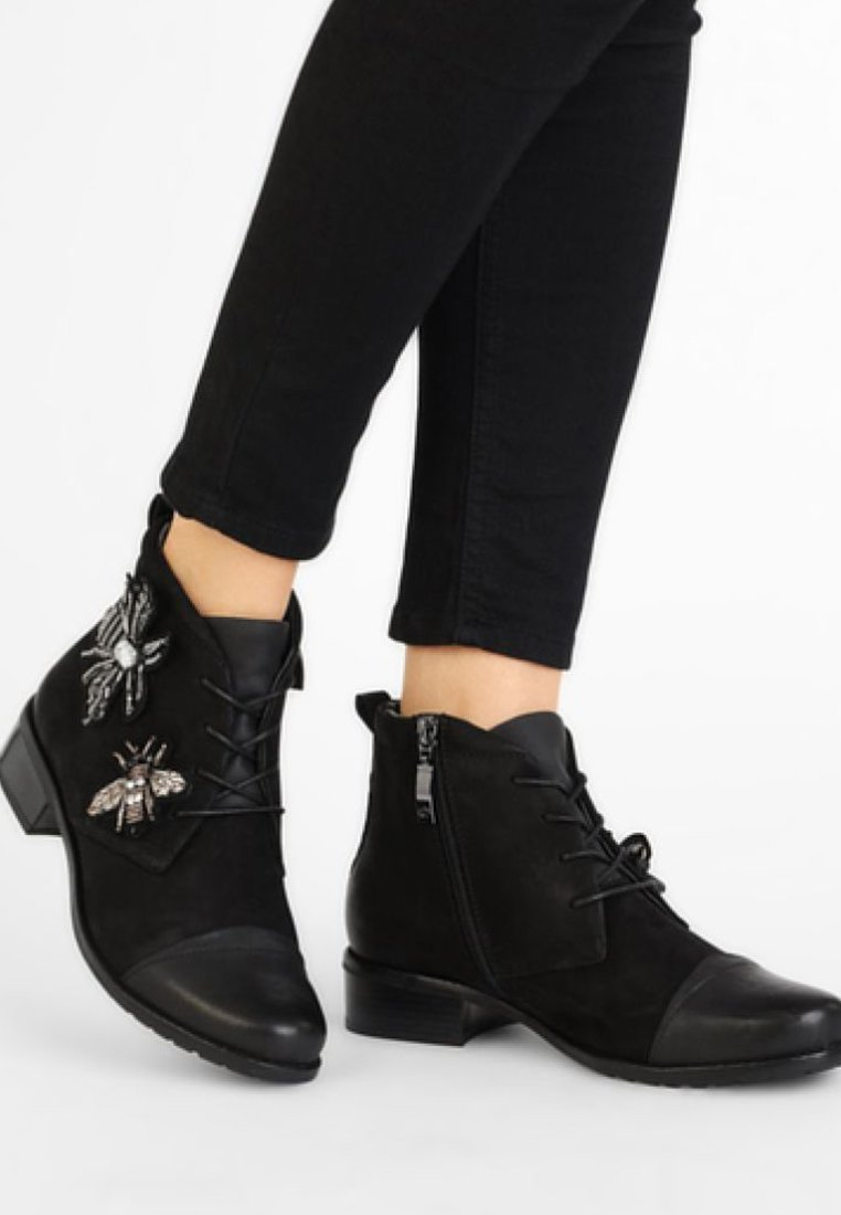 Gerry Weber - CALLA - Lace-up ankle boots - black