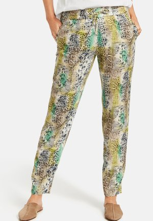 Tracksuit bottoms - offwhite/yellow/green