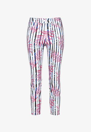 MIT MUSTERMIX BEST4ME - Trousers - weiss, blau, rot