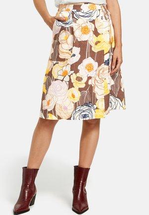 Jupe trapèze - brown/yellow