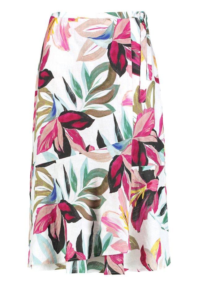 A-line skirt - ecru/weiss/lila/pink multicolo