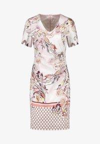 Gerry Weber - KLEID GEWEBE KLEID MIT ALLOVERDESSIN - Korte jurk - pink/tobacco/flamingo print - 4