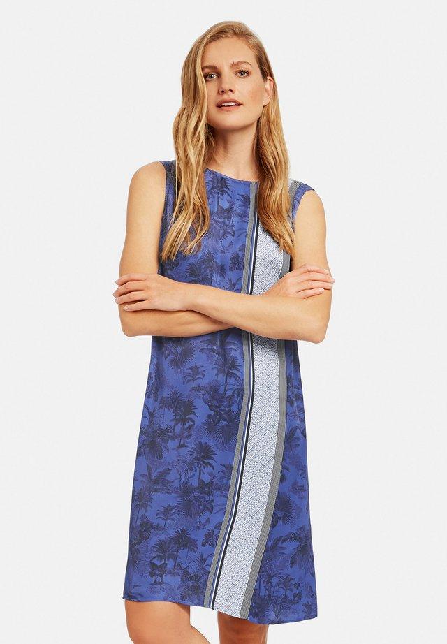 Korte jurk - blau/ecru/weiss gemuster