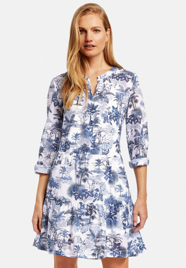 Day dress - ecru/weiss/blau