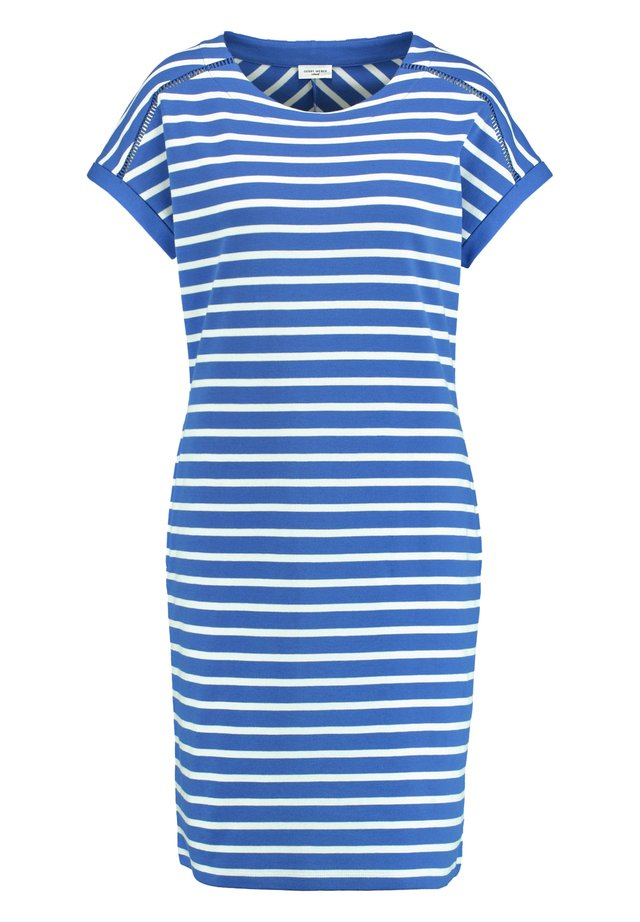 Korte jurk - blau/ecru/weiss ringel
