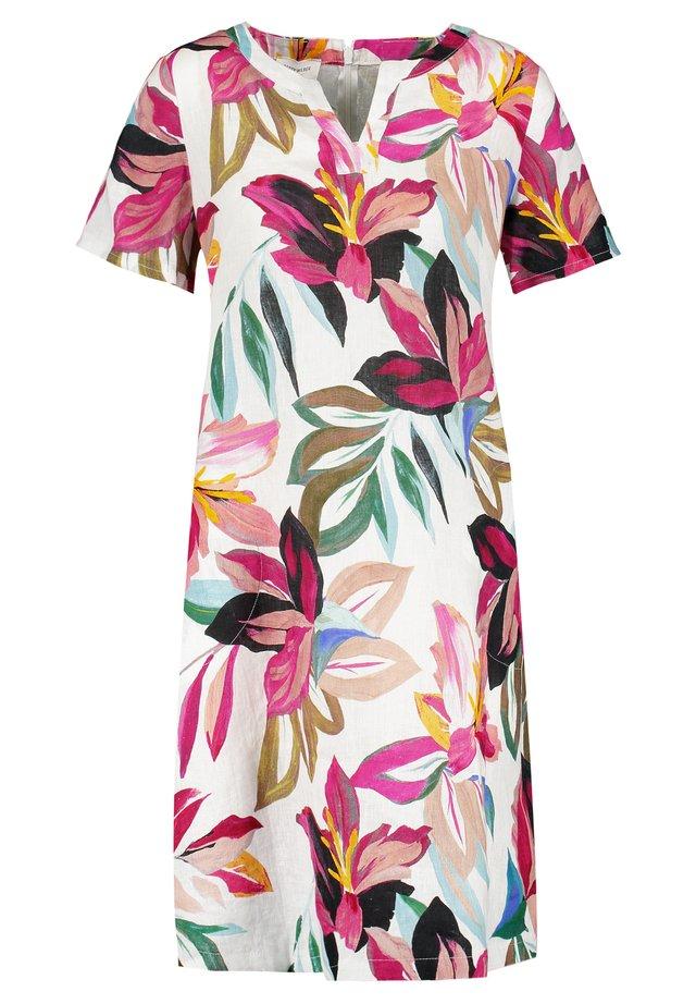 Day dress - ecru/weiss/lila/pink multicolo