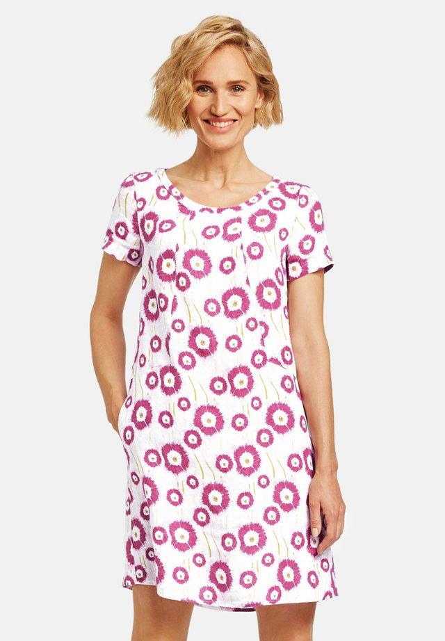 Korte jurk - shell-himbeere
