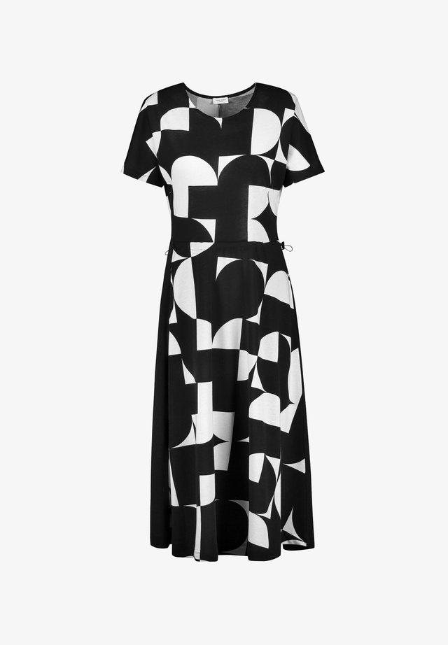 MIT GRAFISCHEM MUSTER - Korte jurk - schwarz/ecru/weiss druck