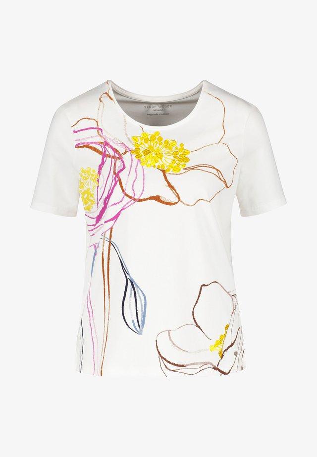 MIT GROSSER BLÜTE - Print T-shirt - off white