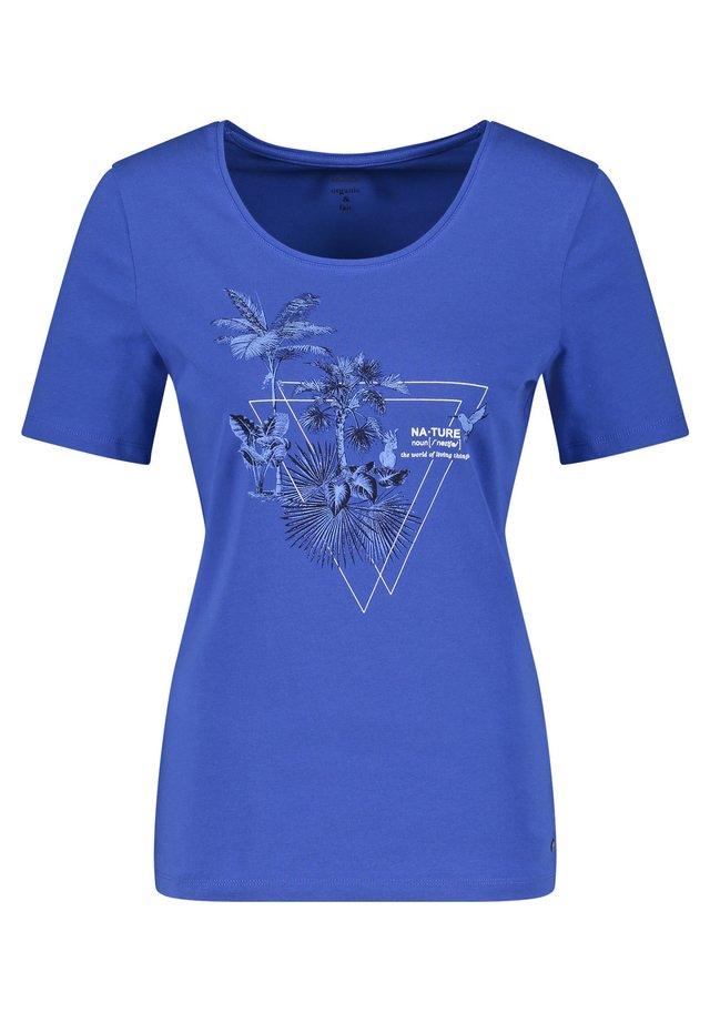 MIT FRONTPRINT - T-Shirt print - blau druck