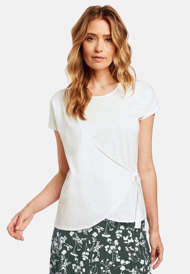 MIT WICKELEFFEKT - T-Shirt print - off-white