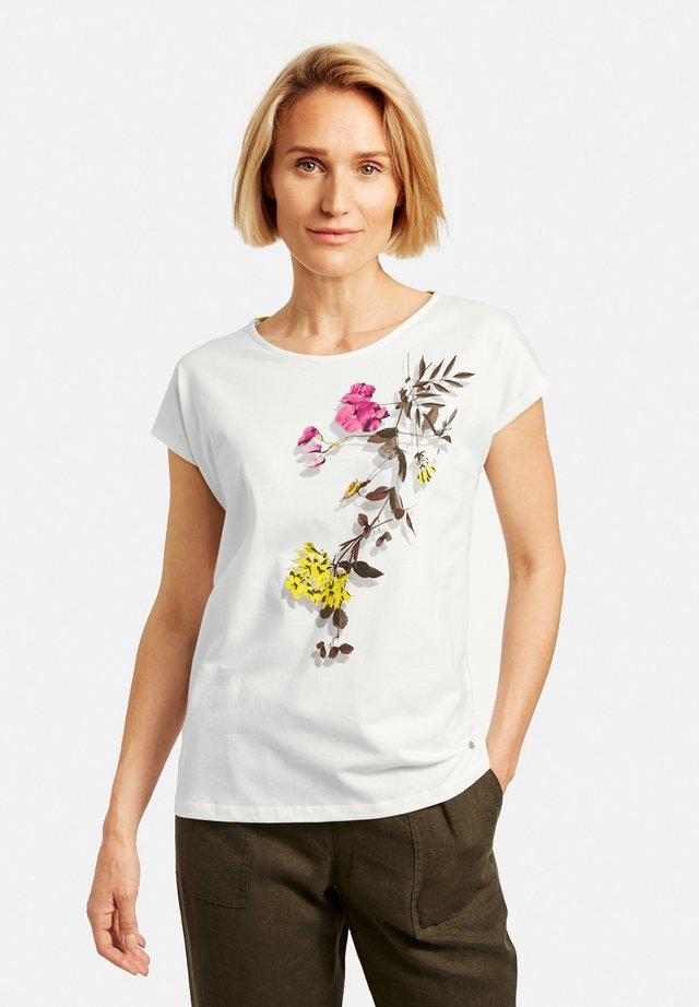 MIT BLUMENRANKE  - T-shirt imprimé - off-white