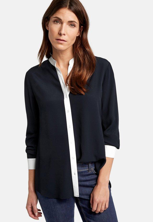 1/1 ARM   - Button-down blouse - dark navy