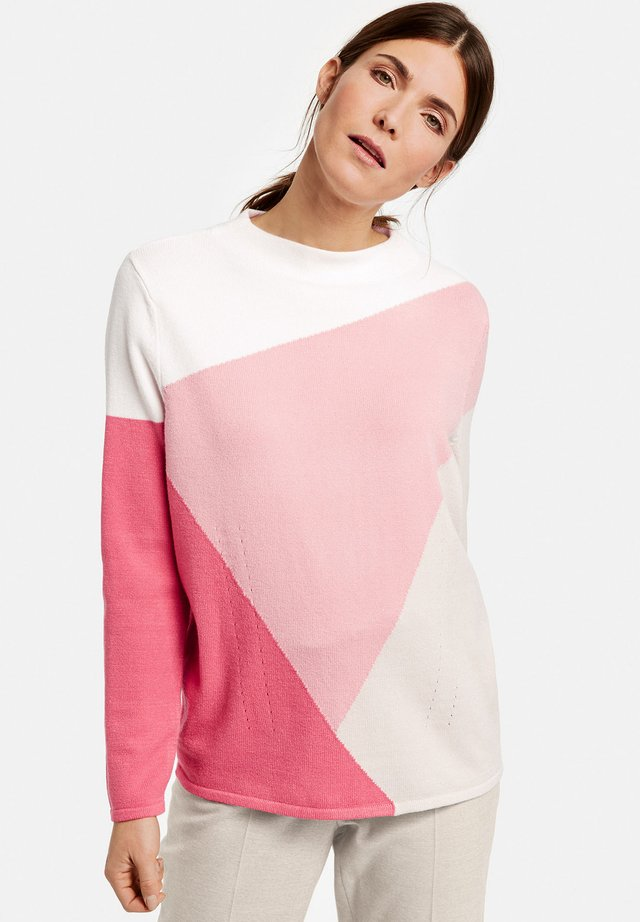 MIT COLOURPATCH - Strickpullover - sienna/pink