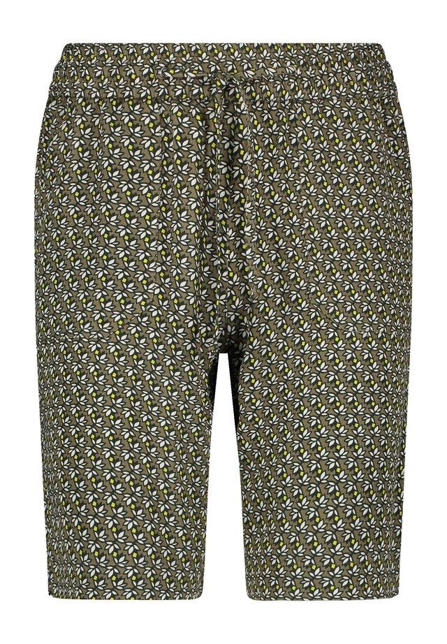 GRAFISCHEM MUSTER - Shorts - khaki/ offwithe/ lemon