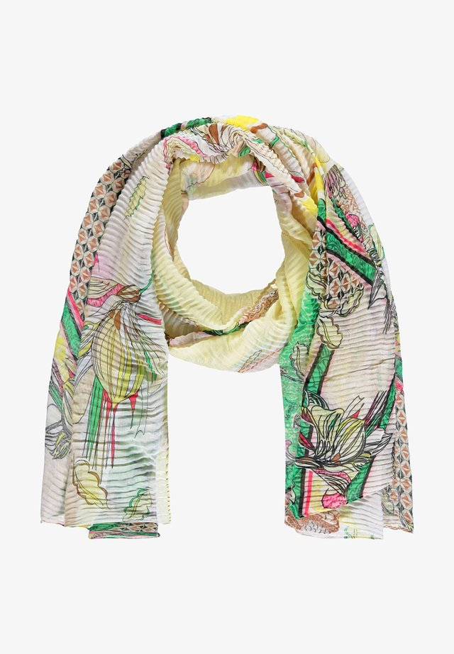 MIT PATCHMUSTER - Schal - sand yellow multicolor print