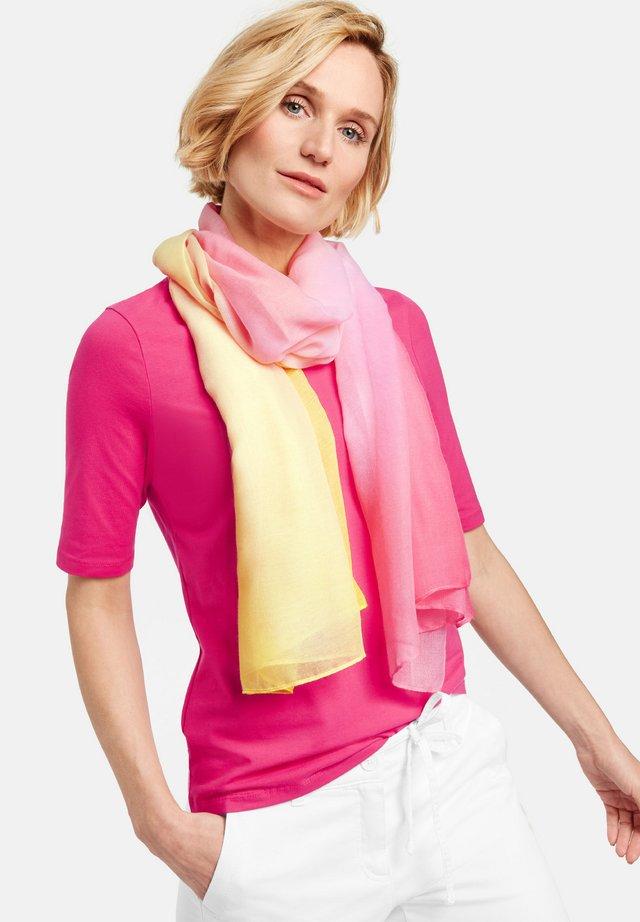 MIT DEGRADÉE MUSTER - Sjaal - pink dip dye