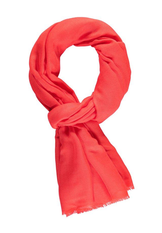 MIT FISCHGRATSTRUKTUR - Sjaal - red orange