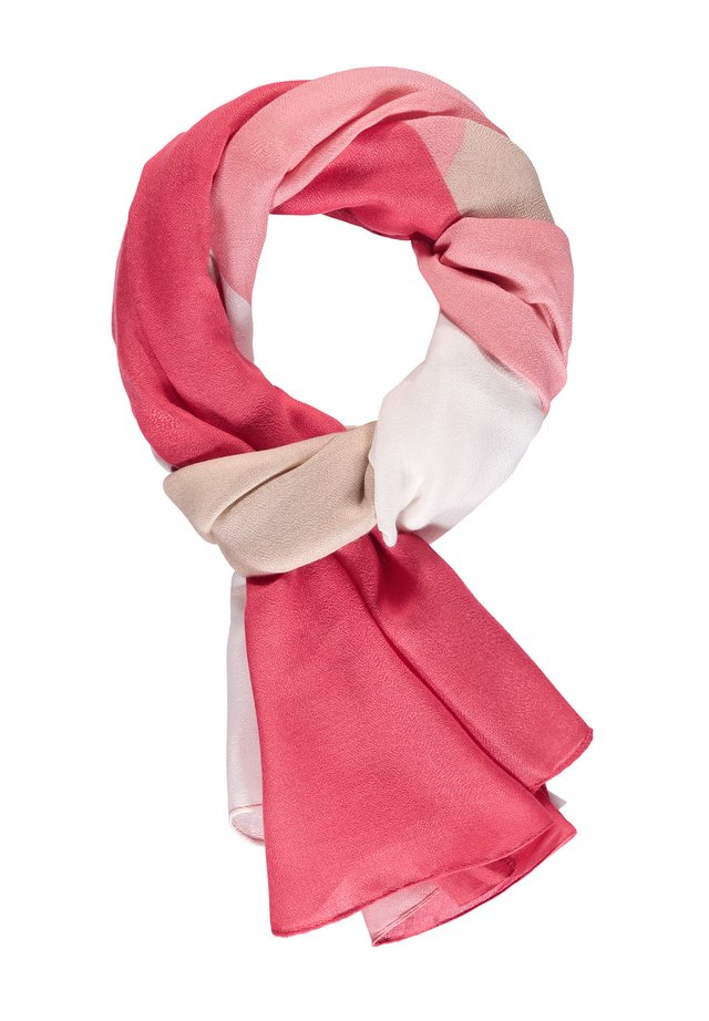 MIT GRAFISCHEM MUSTER - Sjaal - spiced coral/ dusty pink/ ecru