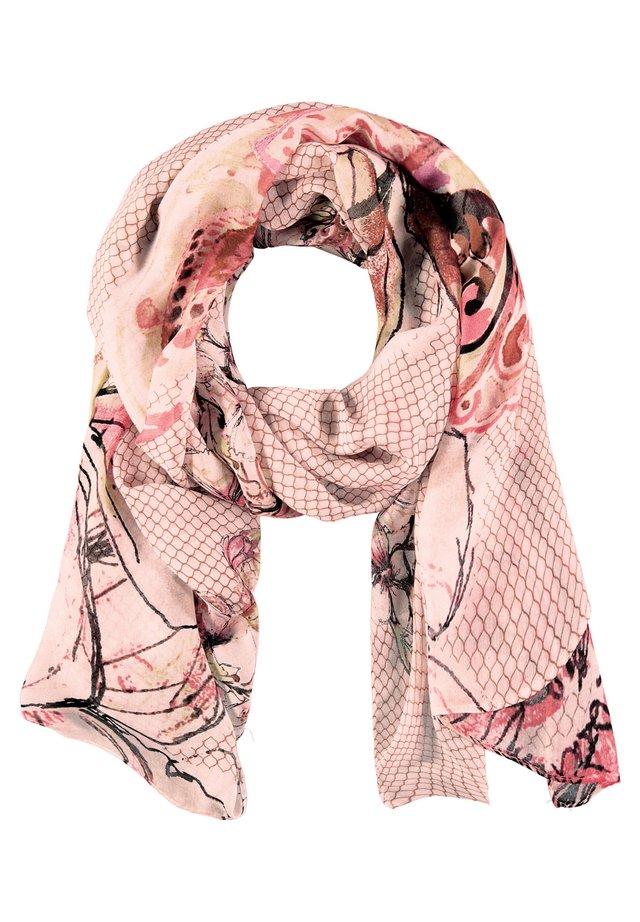 MIT BLÜTENRANKEN - Sjaal - rosa/ tabak/ flamingo druck