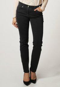 Gerry Weber Edition - ROXY - Straight leg jeans - dark grey - 1