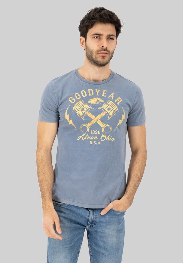 MEAFORD - Print T-shirt - pigeon blue