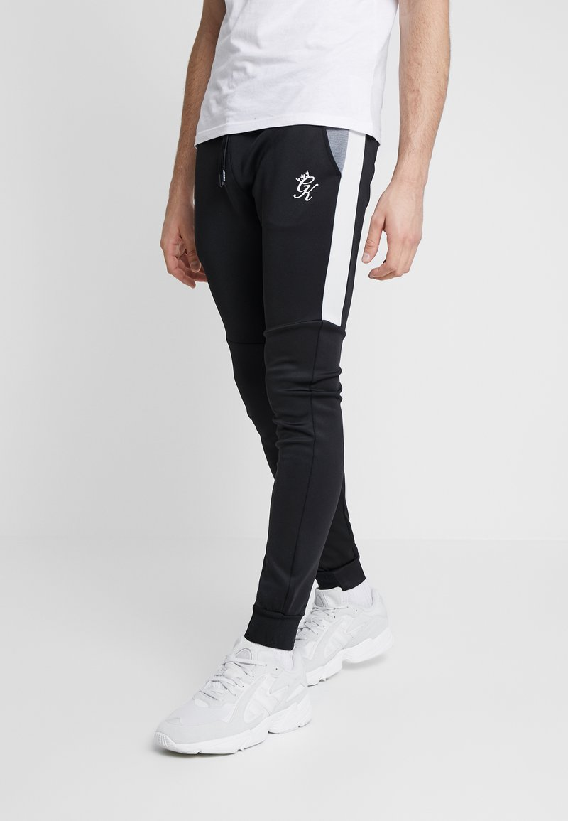Gym King - LOMBARDI TRACKSUIT BOTTOMS - Pantalones deportivos - black/charcoal marl