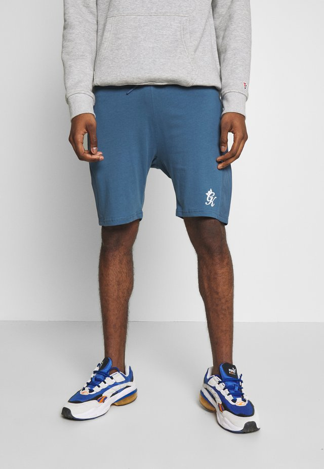SHORTS WITH PANEL OVERLAY - Joggebukse - bearing sea