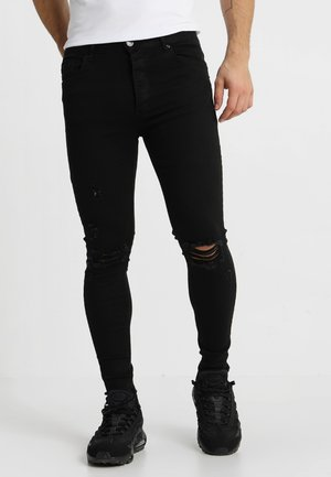 DISTRESSED  - Vaqueros pitillo - black