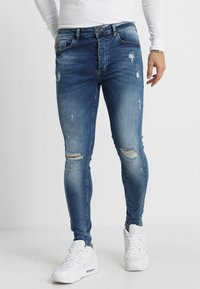 Gym King - DISTRESSED - Jeans Skinny - mid wash blue - 0