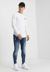 Gym King - DISTRESSED - Jeans Skinny - mid wash blue - 1