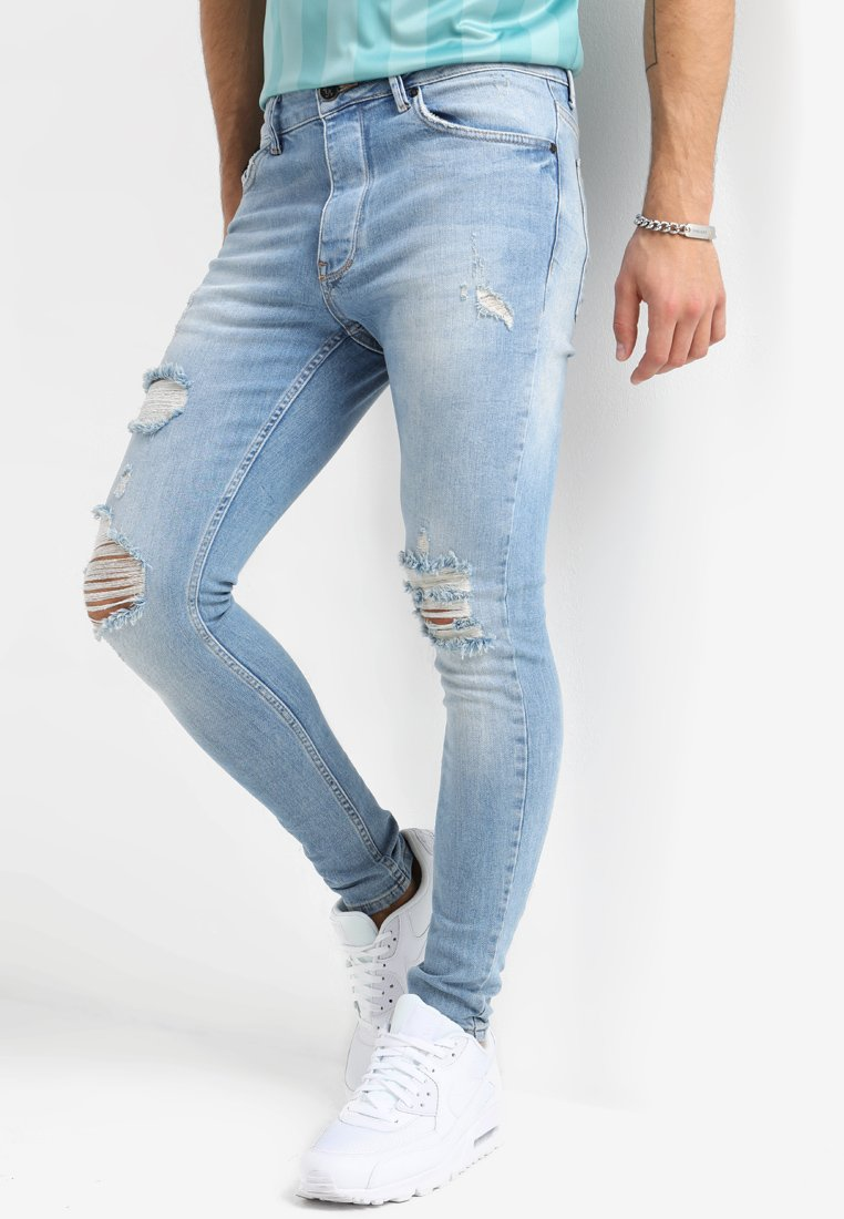 Gym King - DISTRESSED - Jeans Skinny Fit - light wash blue