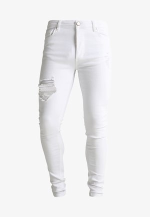 DISTRESSED  - Jeansy Skinny Fit - white