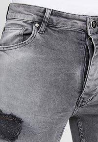 Gym King - LIGHTNING JACK SIDE TAPE - Jeans Skinny Fit - grey - 5