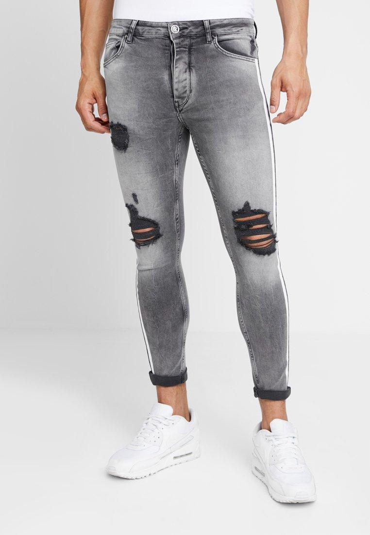 Gym King - LIGHTNING JACK SIDE TAPE - Jeans Skinny Fit - grey