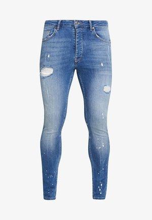 SALVATION PAINT SPLATTER - Jeans Skinny - mid blue
