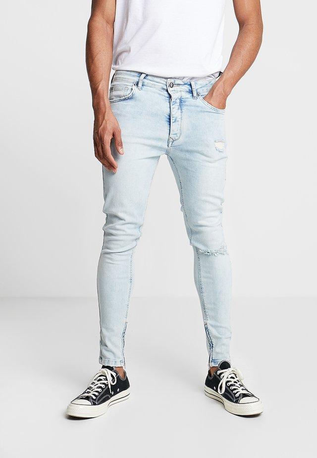 MAVERICK WITH ANKLE ZIP - Jeans Skinny Fit - light blue
