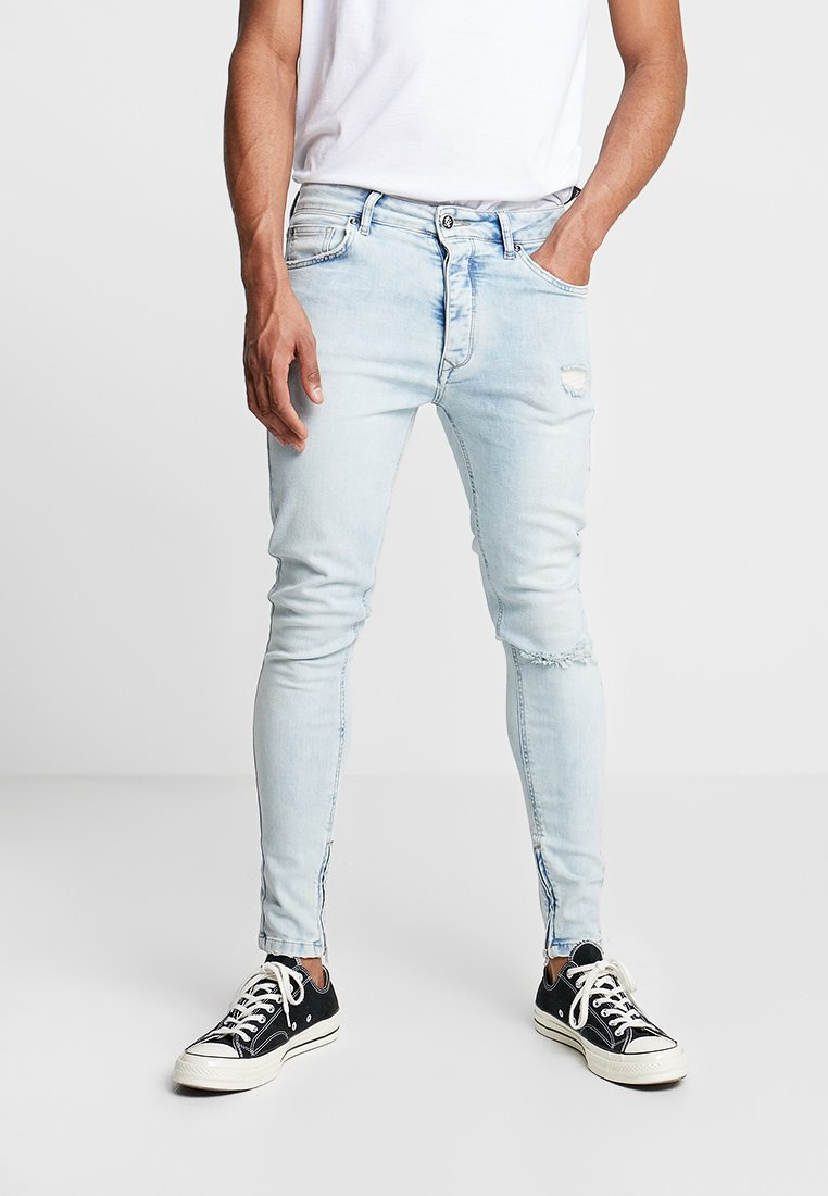 Gym King - MAVERICK WITH ANKLE ZIP - Jeans Skinny Fit - light blue