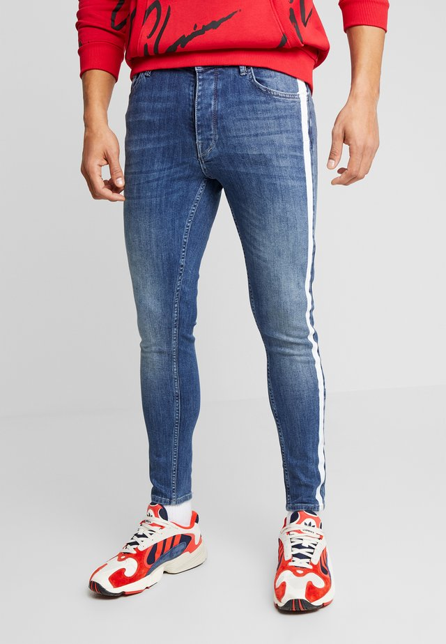 WITH SIDE STRIPE  - Jeans Skinny Fit - mid wash indigo